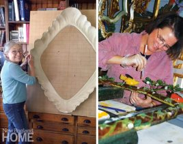 Carvers's Guild Worker Painting Mirror