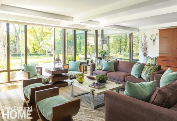 Lda Architects Wellesley Tudor -Style Home Family Room