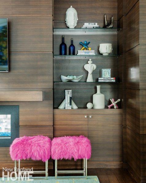Vibrant Family Home Contemporary Book Shelves