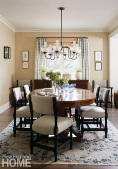 Updated traditional neutral dining room