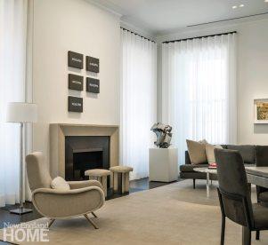 Modern and Minimalist Boston Townhouse Living Room
