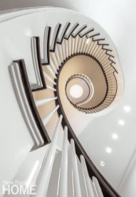 Modern and Minimalist Boston Townhouse Stairs