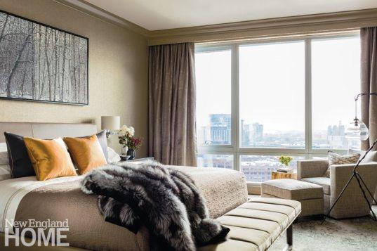 Contemporary and Family Friendly Boston Condo neutral Master Bedroom