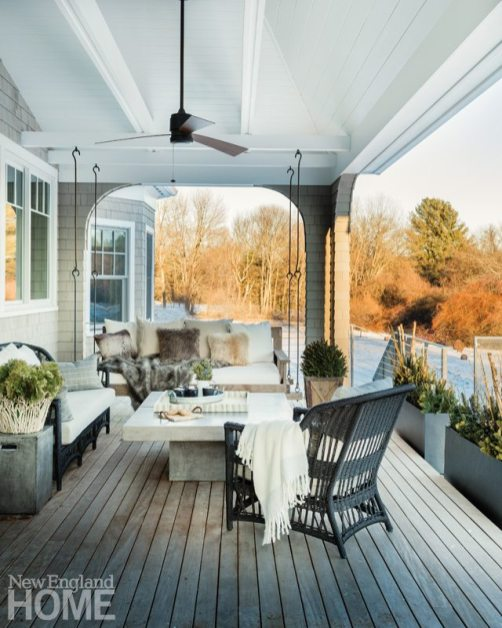 Neutral and Sophisticated home in Concord, Massachusetts Outdoor Deck