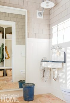 Neutral and Sophisticated home in Concord, Massachusetts Powder Room