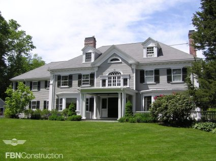 Elegant Gray Colonial Renovated by FBN Construction