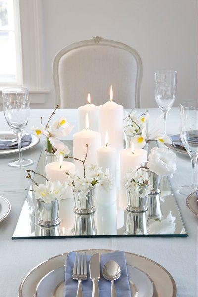 Elegant White Floral Centerpiece
