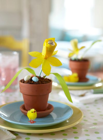 Tissue paper daffodil