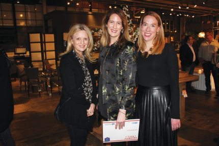 Lillian August Luxury Living Talk Ann Sellars Lathrop, New England Home's Stacy Kunstel, and Elizabeth McGann