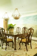 Elegant formal living room with mural built by FBN Construction