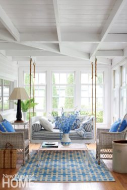 Coastal Maine Screened Porch with Swing