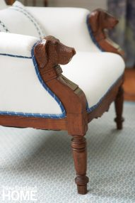 Coastal Maine Chair with Dog Heads