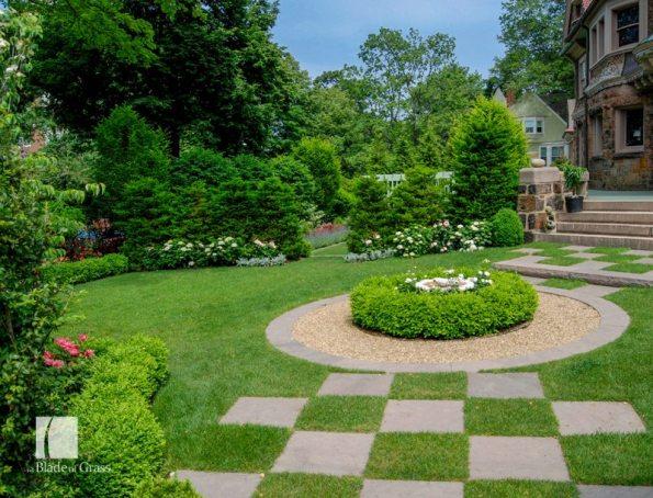 a Blade of Grass Classic Brookline Garden Checkerboard Patio