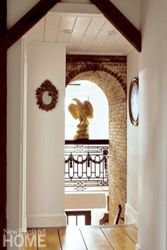 Colonial-Era Home Antique Wrought-Iron Balcony