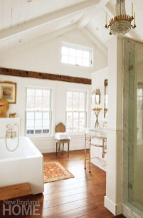 Colonial-Era Home Master Bathroom