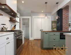 Kitchen Trends: Green Painted Cabinets