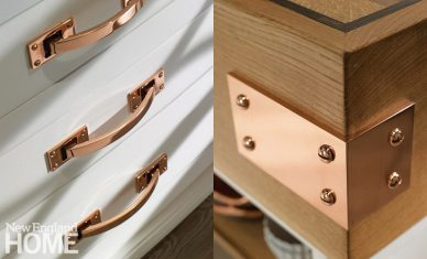 High-style copper hardware and fittings from Christopher Peacock.