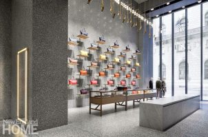 Newly popular terrazzo can be used for more than just floors, as architect David Chipperfield's design for the Valentino flagship store in New York reminds us.