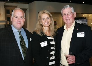 Karl Ivester of New England Shutter Mills, Renee Albano of Jewett Farms + Co, and Rob Henry of Audio Video Design