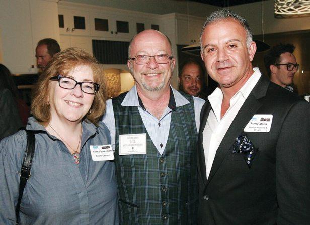 Nancy Sorensen and Bill Morton of Back Bay Shutter with Pierre Matta of Newton Kitchens & Design