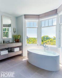 Hutker Architects Master Bathroom with Freestanding Tub