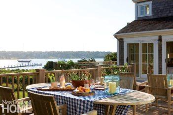 Chappaquiddick Shingle Cottage Outdoor Dining Area