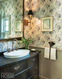 Restored Amos Otis House Powder Room