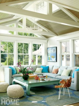Rhode Island Shingle Style Family Room