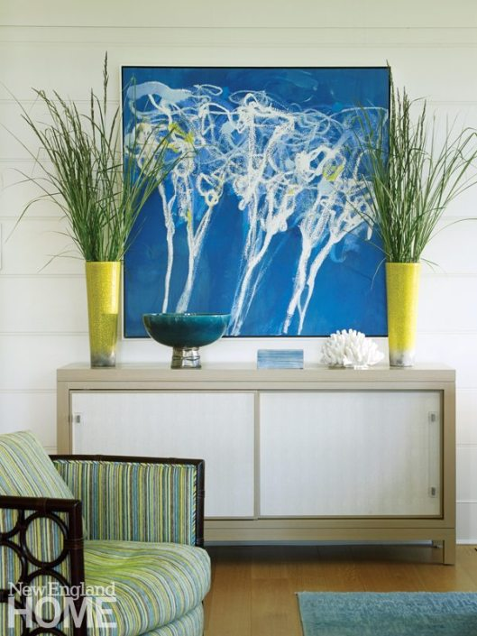 hode Island Shingle Style Living Room Vignette
