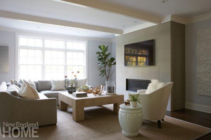 Brooks & Falotico New Canaan transitional family room