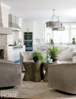 Brooks & Falotico New Canaan kitchen seating area
