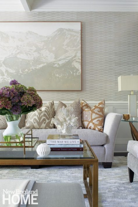 Brooks & Falotico New Canaan transitional living room