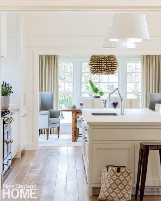 Lisa Tharp White Kitchen view to Dining Room