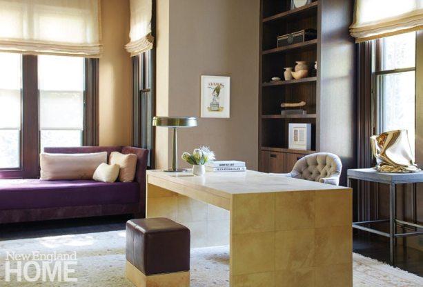Contemporary Boston town home elegant office