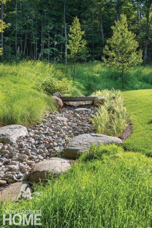 A granite slab forms a bridge across a dry streambed.