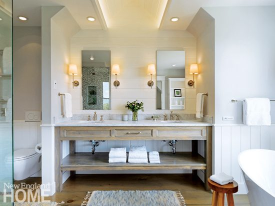 Vermont bathroom with wood vanity