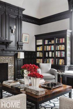 Historic Boston home library