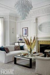 Historic Boston home living room