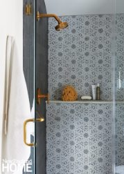 Shower with Italian tile