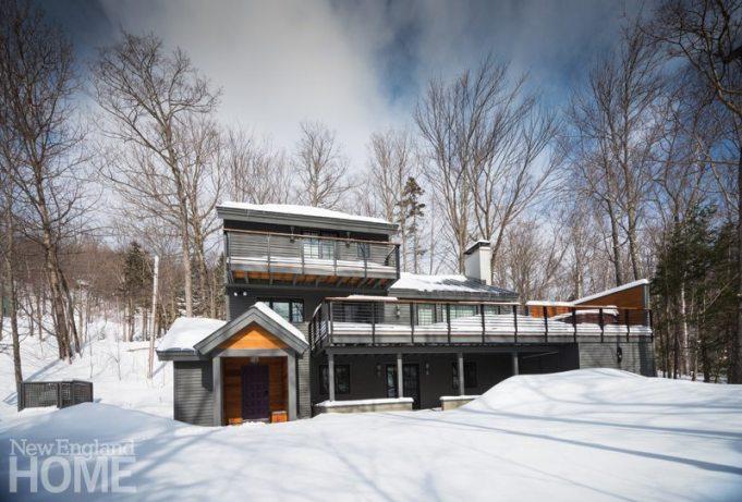 Contemporary Vermont mountain home exterior