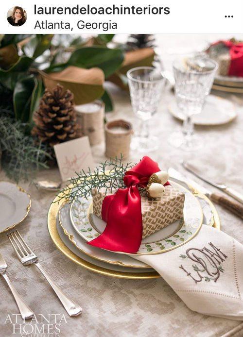 Lauren Deloach holiday table