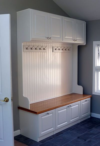 custom closet and storage solutions small mudroom