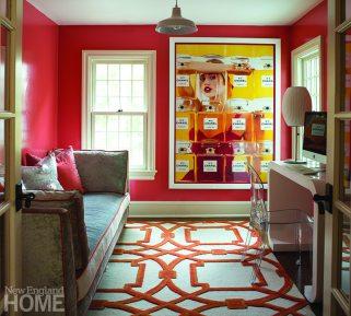 Orange home office