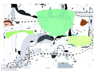 """Untitled (2009), archival inkjet print with cut paper, 13""""H × 18""""W"""