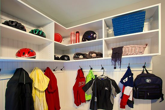 custom closet and storage solutions mudroom
