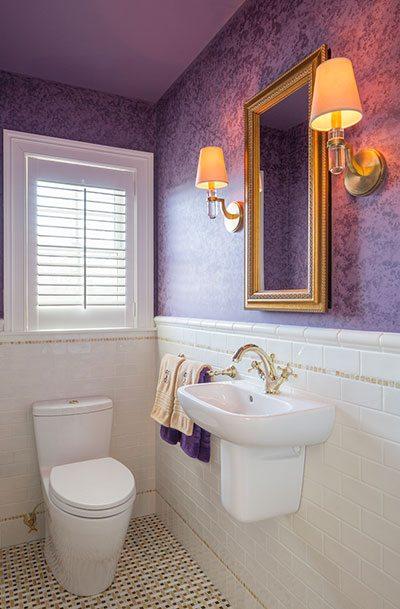 purple powder room