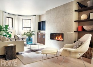 Simple and neutral family room