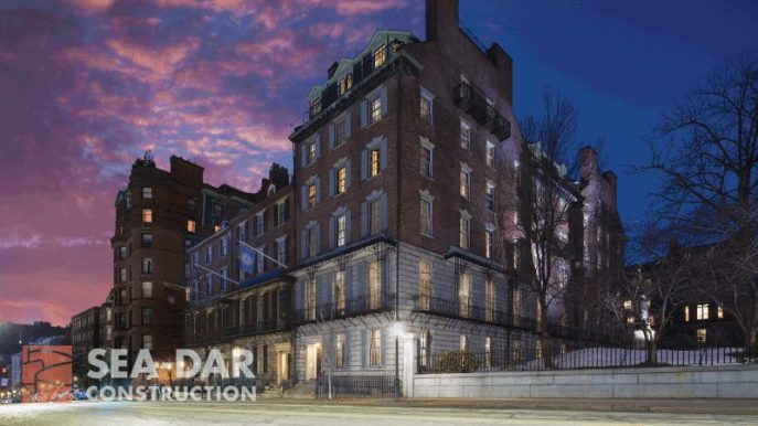 25 Beacon Street at dusk. You would never know this historic beauty hosts an engineering marvel.