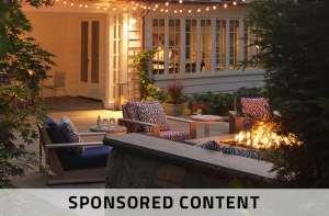 outdoor patio in evening