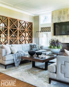 Adjacent to the kitchen, the comfortable family room provides ample seating for conversation or TV viewing.